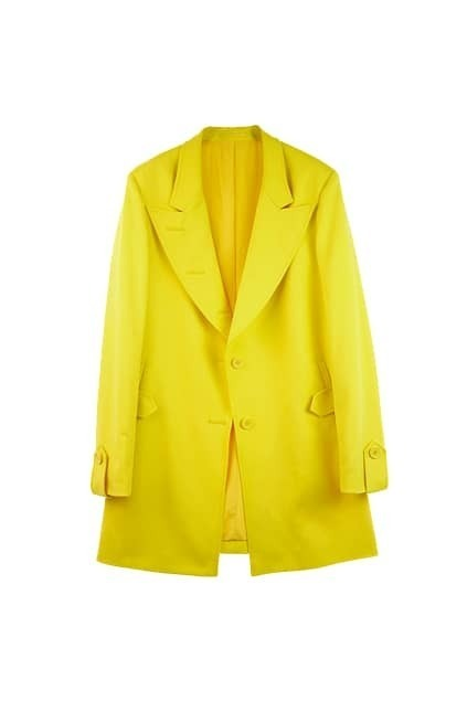 Slim Medium Style Yellow Blazer