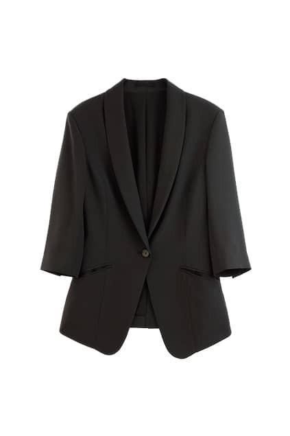 Slim Bracelet Sleeve Black Blazer