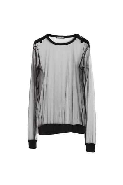 Transparent Style Black Top