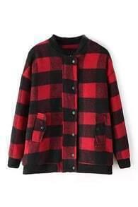 Red Check Boyfriend Coat