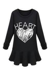 Heart Print Slim Dress