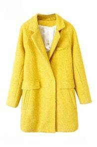 Pocketed Sheer Yellow Coat