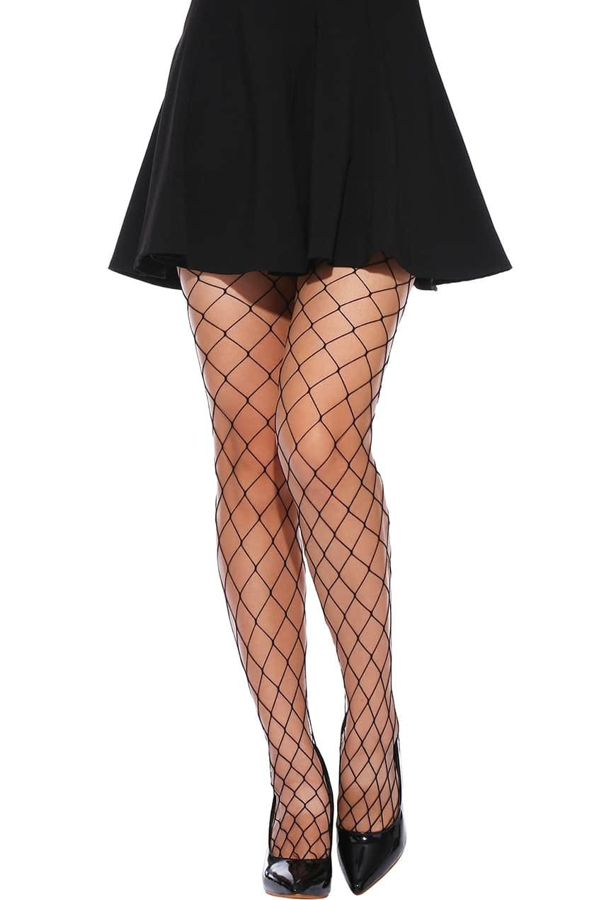 Sexy Big Black Fishnet Tights
