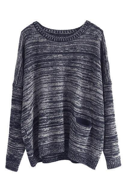 Pocketed Batwing Loose Jumper