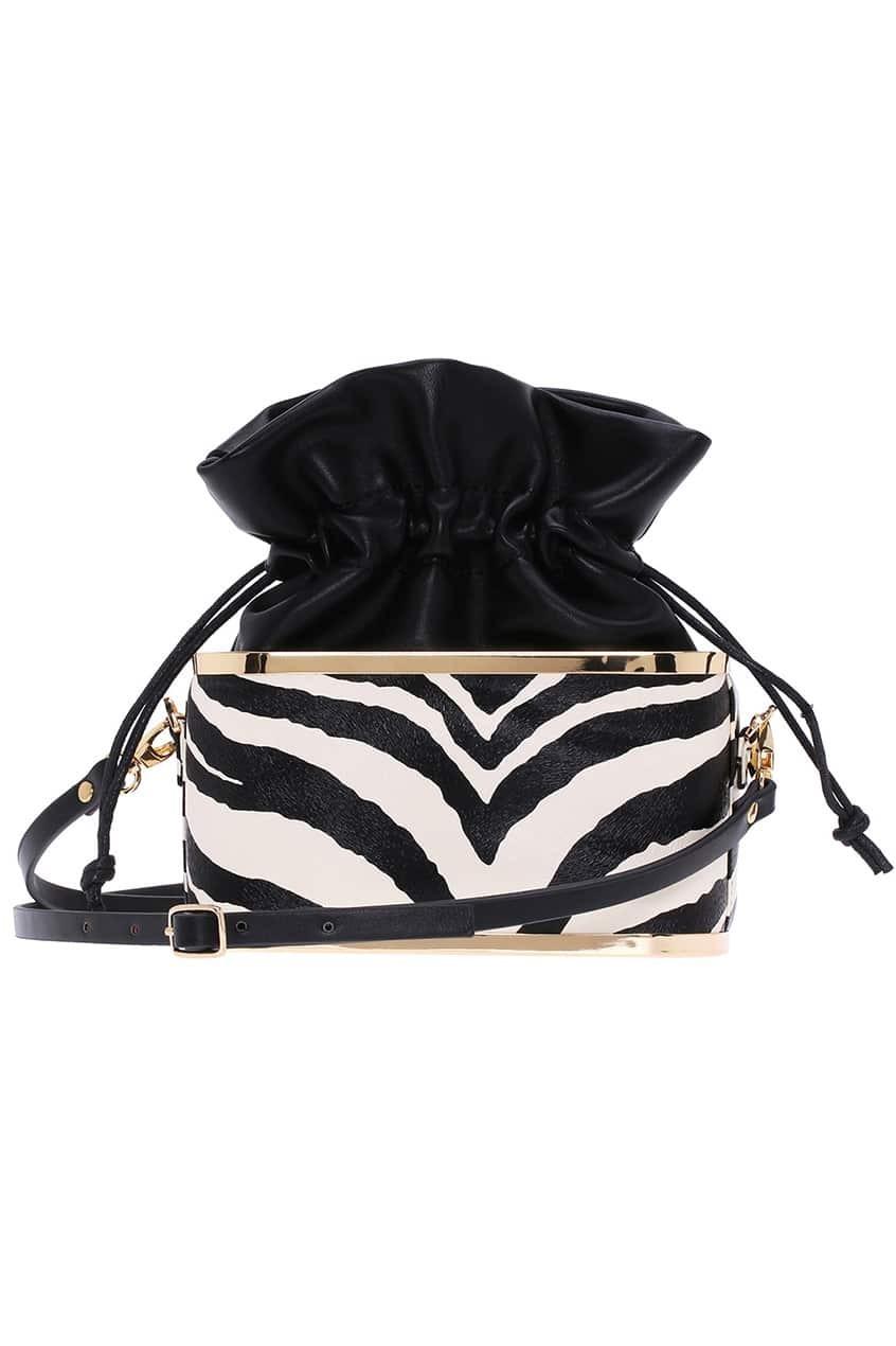Zebra Print Elastic Bag