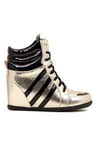 Striped Shoelace Casual Boots
