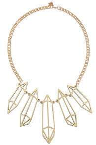 10×1 Brand Metal Diamante Pendant Necklace