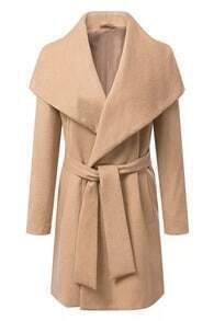 Self-tie Sheer Khaki Coat