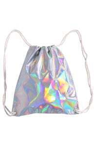 Laser Silvery Drawstring Backpack