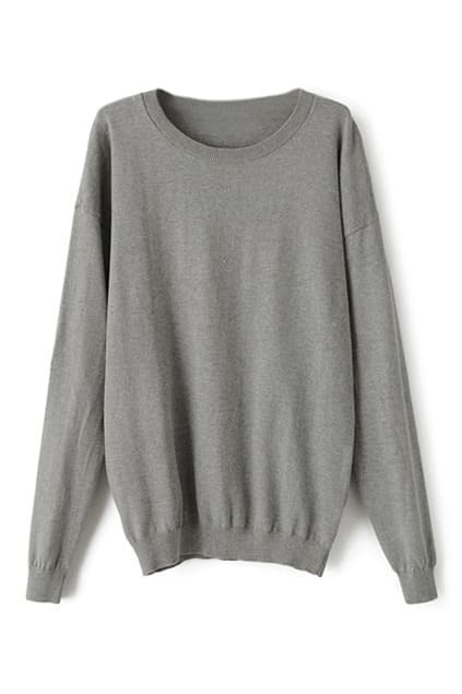 Star Appliqued Grey Jumper