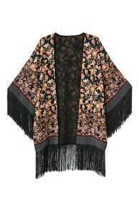 Tassel Open Front Kimono