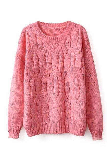 Twisted Knitted Loose Jumper