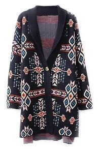 ROMWE Tribal Knitted Loose Cardigan