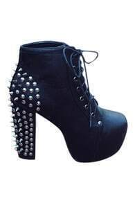 ROMWE Pointed Rivets Embellished Cool High Heels