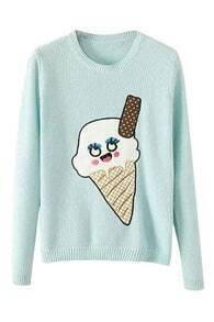 ROMWE Cute Icecream Knitted Jumper