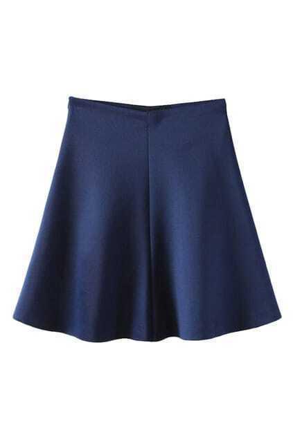 Navy Blue Skirt A Line