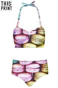 This Is Print Macarons Print Bikini