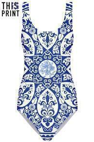 This Is Print Ceramic Print Swimsuit