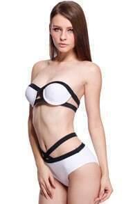 ROMWE Slim Sexy White Bikini