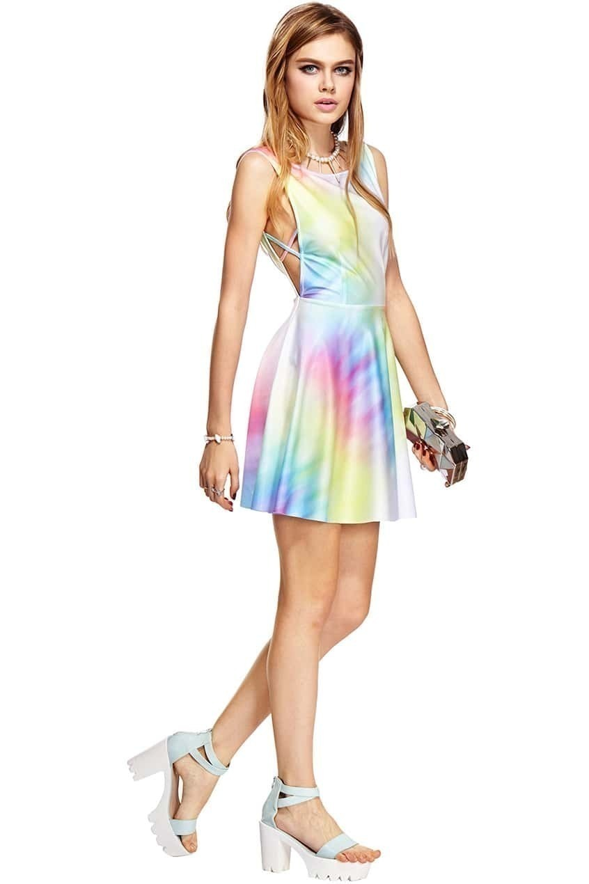 colorful print dresses images