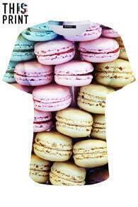 This Is Print Macarons Print T-shirt