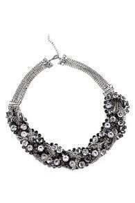 ROMWE Diamante Embellished Necklace