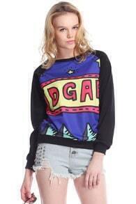 Stars IDGAF Print Black Sweatshirt