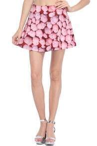 Halloween Doll's Head Print Skirt