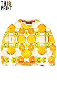 This Is Print Fruit Platter Print Sweatshirt