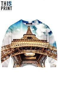 This Is Print The Eiffel Tower Print Sweatshirt
