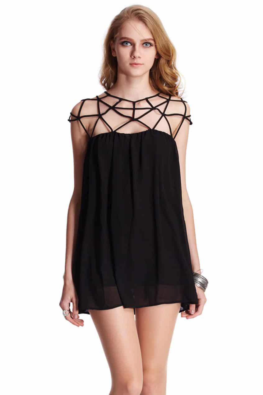 Cut Out Black Dress