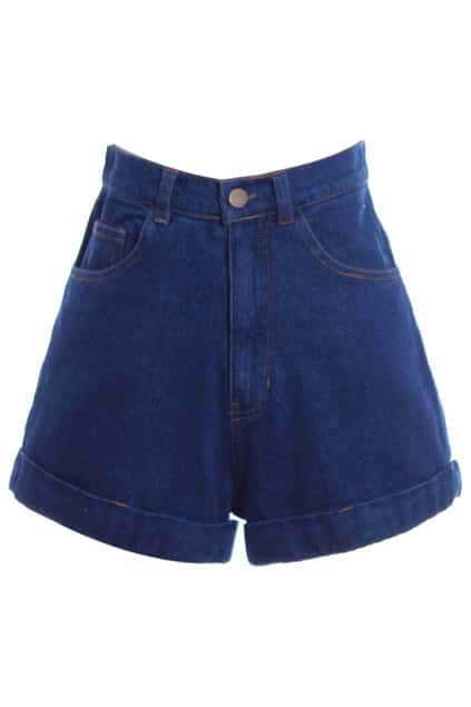 Denim Blue Shorts - The Else