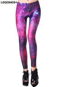 ROMWE Galaxy Print Colorful Leggings