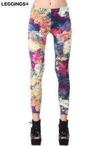 ROMWE Floral Print Leggings