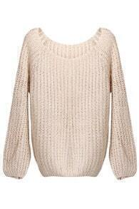 Batwing Puff Sleeves Light-apricot Jumper