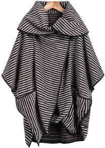 Lapel Striped Loose Coat