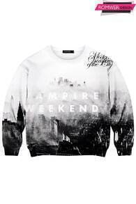 This Is Print Grey Castle Print Sweatshirt