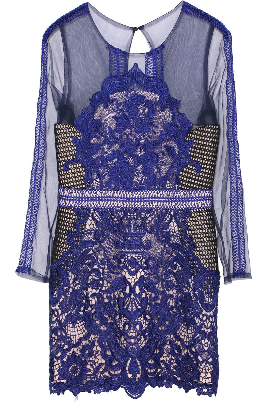 Embroidered Sheer Mesh Lace