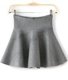 Flare Flouncing Grey Skirt