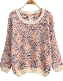 Multicolor Bandage Knit Loose Sweater