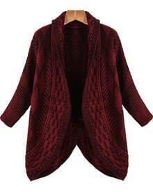 Diamond Patterned Knit Cardigan