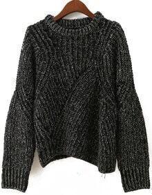 Vintage Batwing Loose Crop Sweater