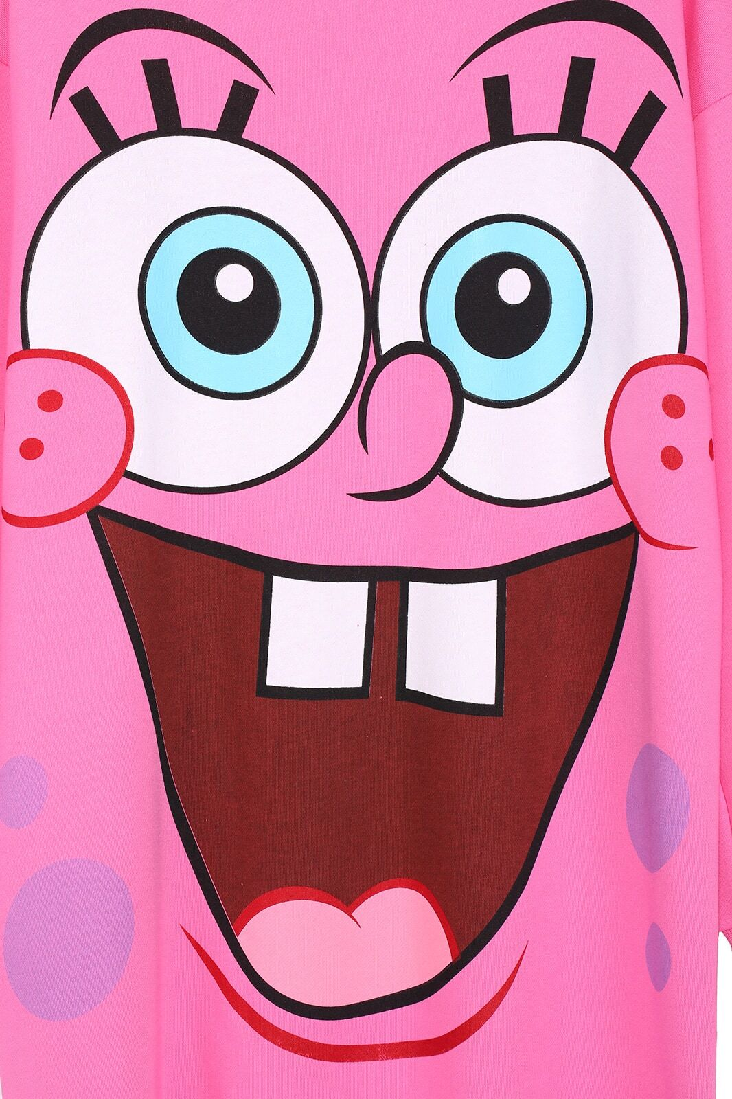 Cartoon Spongebob Print Pink Sweatshirtfor Women Romwe