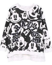 Mickey PARADISE Print Yellow Sweatshirt