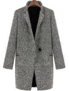 Stand Collar Pocketed Woolen Coat