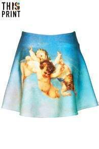 Angel Canvas Blue Skirt
