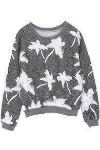 Tree Embellishment Grey Sweatshirt