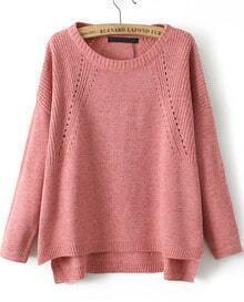 Vintage Knit Loose Red Sweater