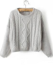 Cable Knit Mohair Crop Sweater