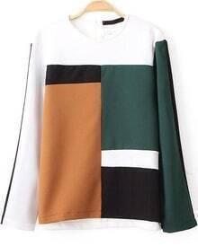Colour-block Loose Blouse